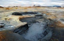 Mud hole in Namarkard, Iceland Royalty Free Stock Images