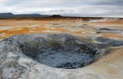 Mud hole in Namarkard, Iceland Stock Photo