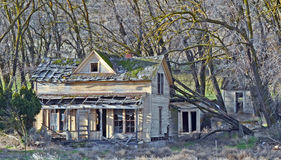 Mud Hollow House. This House is on a road called mud hollow in north Centro Oregon. I dont know any thing about it just that it is cool old house Stock Image
