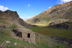 Mud House in Broghil valley Royalty Free Stock Photography