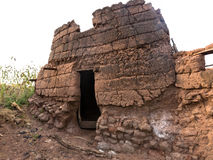 mud house in caratheristic village Stock Photography