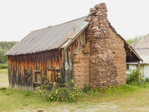 Mud House 1882 Payson AZ. House built in 1882 out of mud to resist fires set by Indians. Located in Payson AZ near Zane Grey`s cabin stock photos