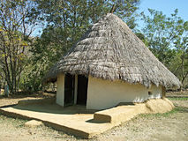 Mud house in village Royalty Free Stock Image