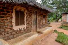 Mud house in Zanzibar Village Royalty Free Stock Photo
