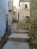 Mud Houses below Leh Palace in Leh India Stock Image