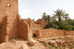Mud houses berber village ruins Stock Image