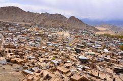 Mud houses in Leh Ladakh Stock Image