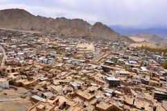 Mud houses in Leh Ladakh stock image