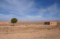 Mud houses in Sahara desert, Morocco Royalty Free Stock Image