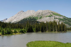 Mud lake and mountains Stock Photos