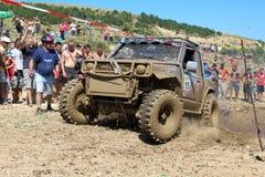Mud machine. Off-Road Race held on 31.07.2011 in Gavrailovo, Bulgaria. See the photo № 15- Peyu Peev, Ivan Todorov of Byala Slatina Royalty Free Stock Image