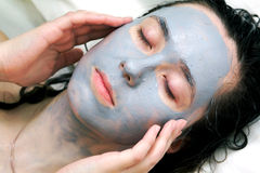 Mud Mask On Face Royalty Free Stock Photography