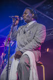 Mud Morganfield sings the blues Stock Image