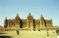 Mud Mosque, Djenne, Mali. One of the world's hidden wonder: the Mud Mosque in Djenne, Mali Royalty Free Stock Image