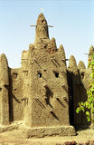 Mud mosque, Ouan, Mali. Mud architecture is unique to the Sahelian countries Royalty Free Stock Photography