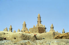 Mud mosque, Sirimou, Mali Royalty Free Stock Images