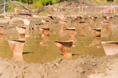 Mud pit at a mud run obstacle course Stock Image