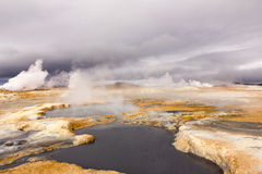 Mud pools myvatn area north iceland Royalty Free Stock Image