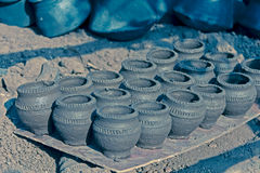 Mud pots at marketplace Royalty Free Stock Photography