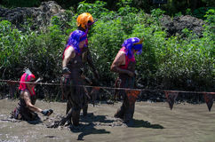 Mud princess group Stock Images