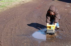 Mud Puddle Fun Stock Images