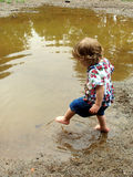 Mud Puddle Girl Royalty Free Stock Images