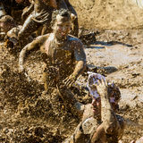 Mud puddles Royalty Free Stock Photos