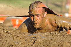 Mud Race. Competing in mud race for the Merrell Down and Dirty. Fairmont Park, PA Stock Photography