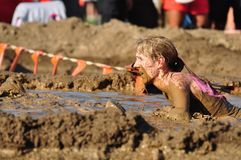 Mud race competition. Competing in mud race for the Merrell Down and Dirty. Fairmont Park, PA Stock Photos