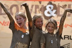 Mud race winners Royalty Free Stock Photography