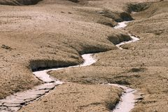 Mud rivers royalty free stock images