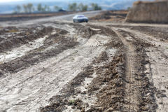 Mud and road Stock Photography
