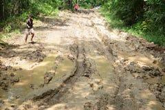 Mud road Stock Image