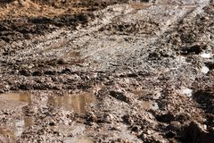 Mud road track Stock Images