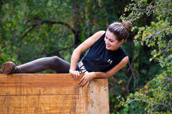 Mud run race Stock Image