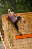 Mud runner at obstacle Royalty Free Stock Image