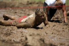 Mud running Royalty Free Stock Image