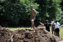 Mud running Royalty Free Stock Photos
