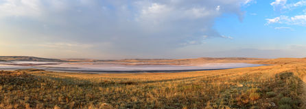 Mud salt lake. Panorama Royalty Free Stock Images