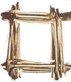 Mud-shaped frame on  white background. Royalty Free Stock Image