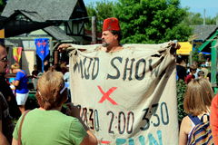 Mud show at the Bristol Renaissance Faire Royalty Free Stock Images