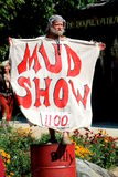 Mud show at the Bristol Renaissance Faire Royalty Free Stock Photo