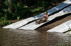 Mud slide Stock Images