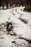 Mud and snow Royalty Free Stock Photography