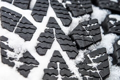 Mud and Snow tires Stock Photos