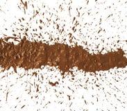 Mud splat pattern. On white background Stock Images
