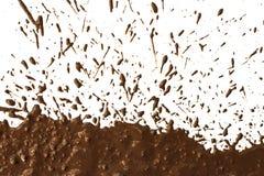 Mud splat pattern. On white background Stock Photography