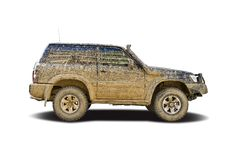 Mud splattered SUV Stock Photography