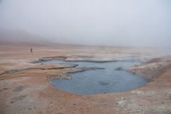 Mud and steam volcano field, Iceland Stock Photography