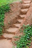 Mud Steps. Steps carved into the muddy clay Royalty Free Stock Photos